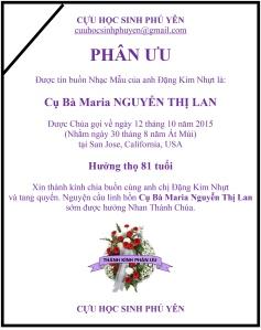 Phan Uu Cu Ba Maria NGUYEN THI LAN
