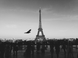 Paris-too-centered-Eiffel-Tower-BW