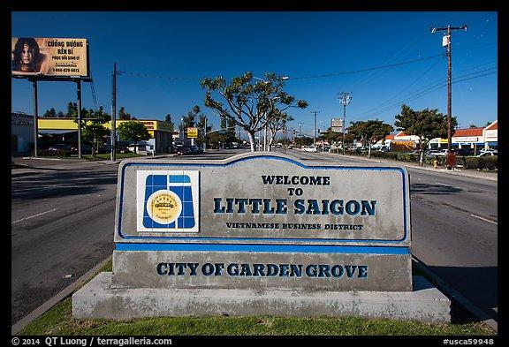 Little Saigon sign. Garden Grove, Orange County, California, USA