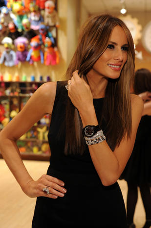 NEW YORK - MARCH 09: Melania Trump attends the 19th annual Bunny Hop hosted by the Associates Committee of The Society of Memorial Sloan-Kettering Cancer Center at FAO Schwarz on March 9, 2010 in New York City. (Photo by Bryan Bedder/Getty Images for PMKBNC)